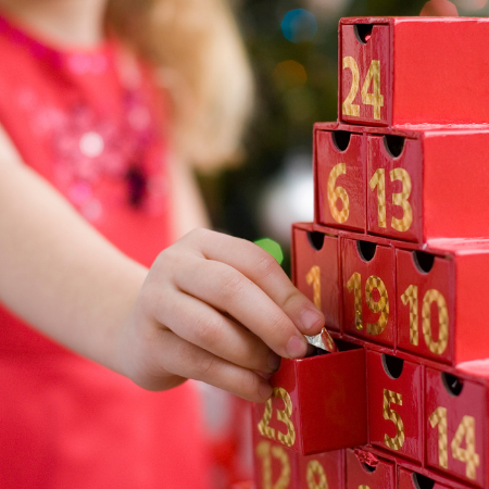 Start a reverse Advent calendar tradition this year!
