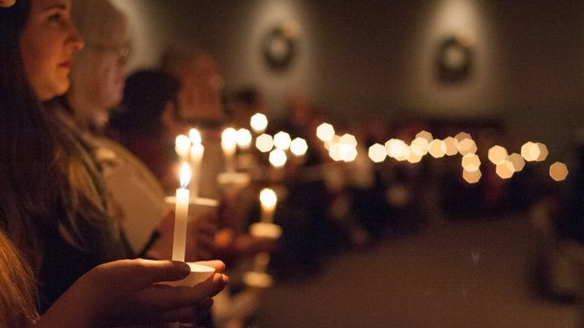 christmas candelight service